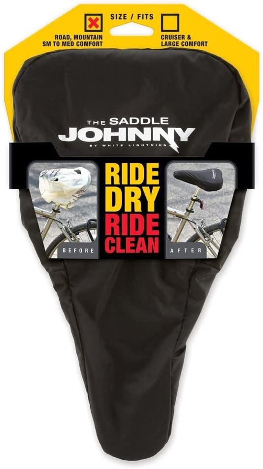 White Lightning Saddle Johnny Bike Seat Protector, Small/Medium