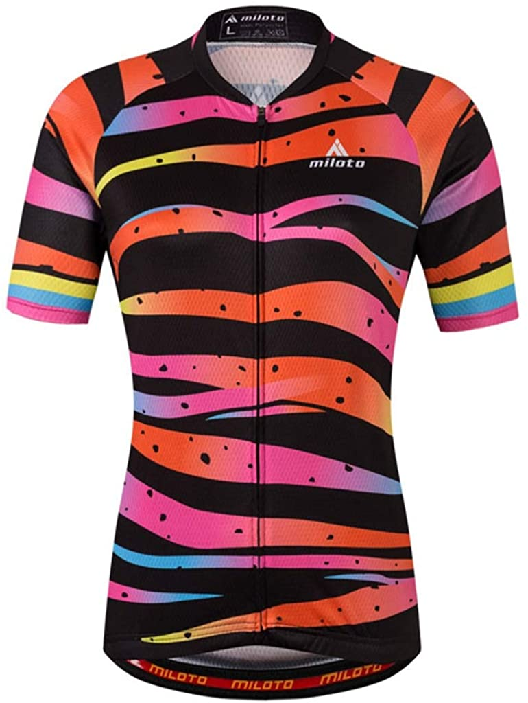 Women's Cycling Jersey Bike Short Sleeve Tops T-Shirts Bicycle Clothing for Sports