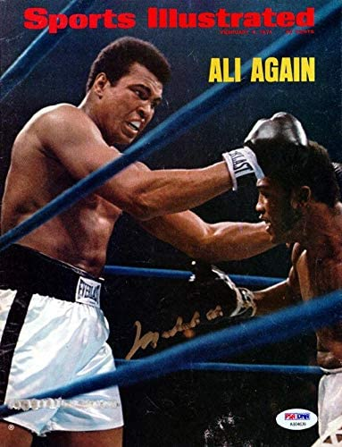 Muhammad Ali Autographed Sports Illustrated Magazine #AB04639 - PSA/DNA Certified - Autographed Boxing Magazines