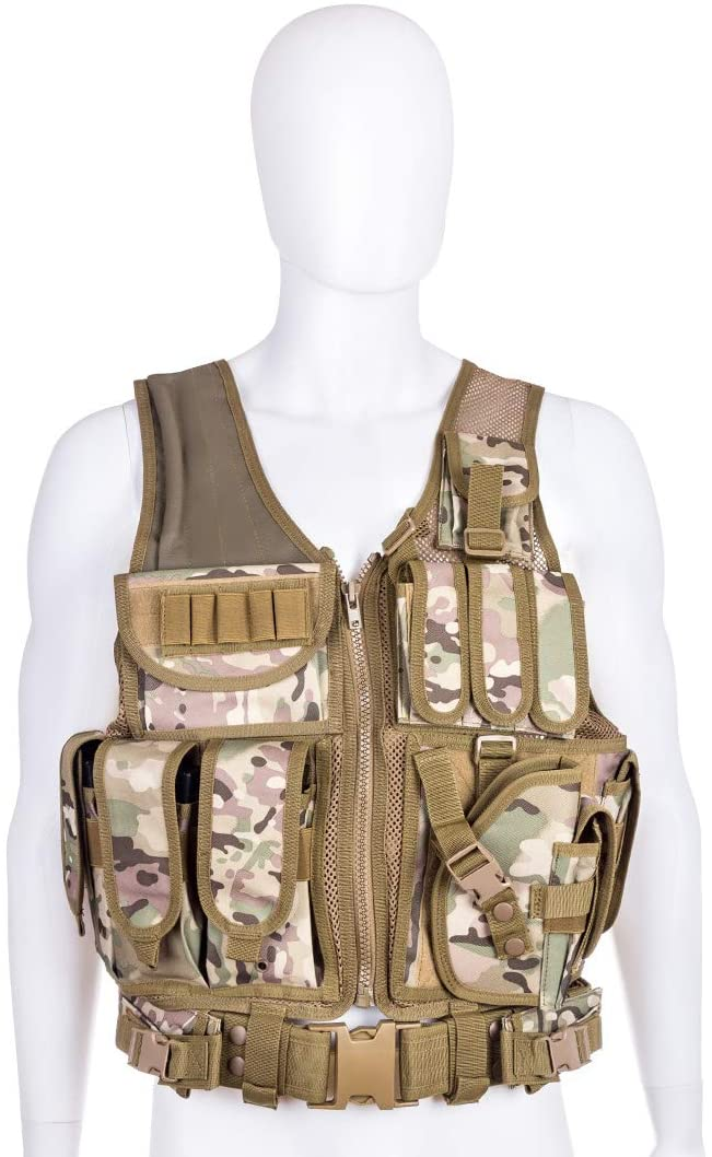 Molle Multi-Function Waterproof Combined Tactical Vest - CP