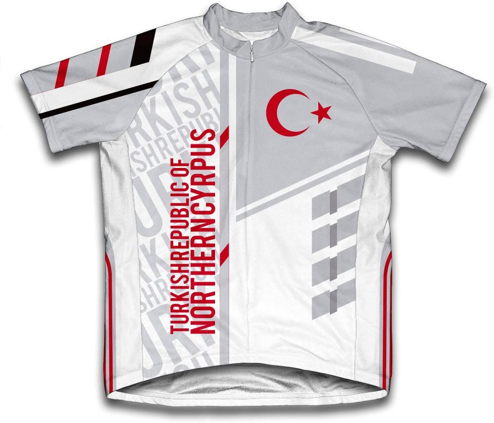 ScudoPro Turkish Republic of Northern Cyrpus Short Sleeve Cycling Jersey for Men