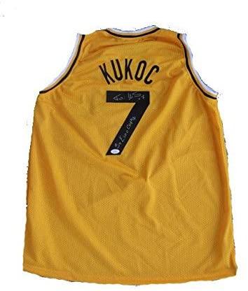 Autographed Toni Kukoc Jersey - JugoPlastika 3x Champ Away Yellow - JSA Certified - Autographed NBA Jerseys