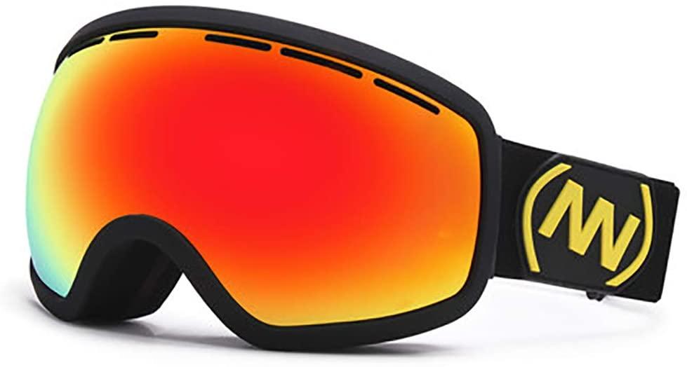 Spherical Design Dual Layers Lens Ski Goggles, OTG Lnterchangeable Lens Anti Fog Anti Glare Snowboard Goggles Winter Outdoor Sports