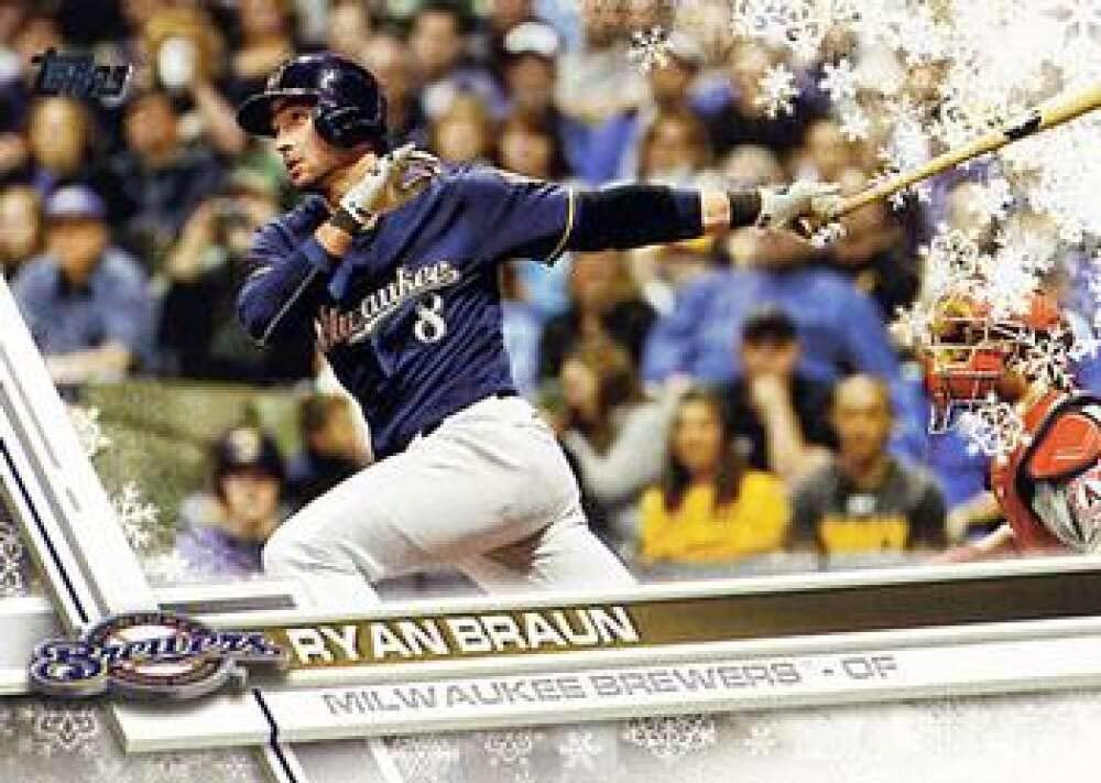 2017 Topps Holiday #HMW45 Ryan Braun NM-MT Brewers