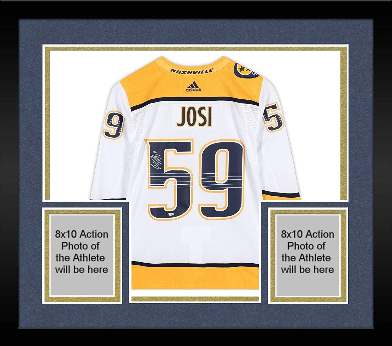 Framed Roman Josi Nashville Predators Autographed White Adidas Authentic Jersey - Fanatics Authentic Certified
