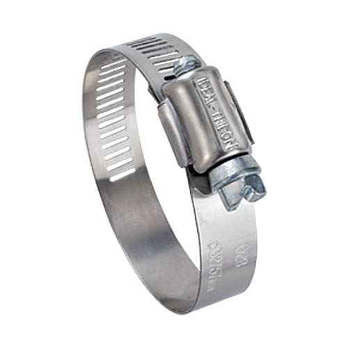 Ideal Tridon 6708551#8 Stainless Steel Worm Drive Clamp with 300 Stainless Steel Screw 67-5 Series, 7/16