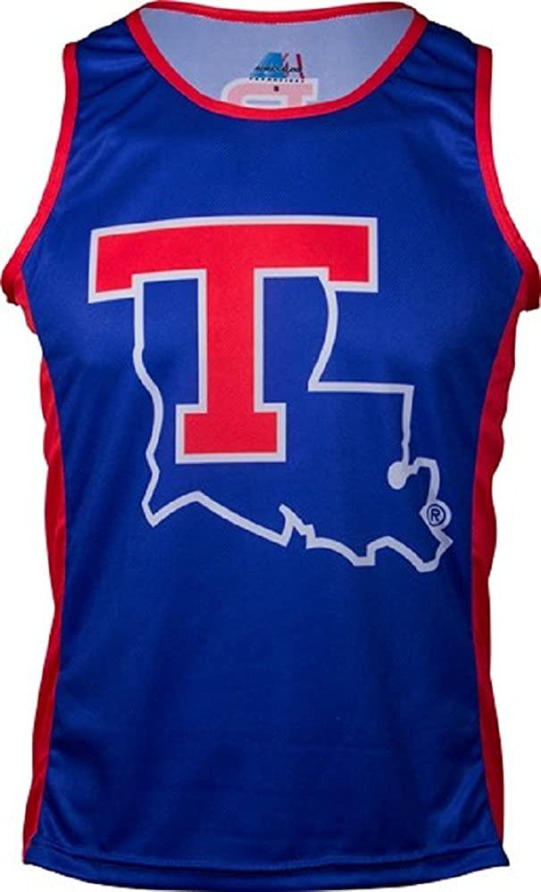 Adrenaline Promotions NCAA Mens NCAA Louisiana Tech University Run/Tri Singlet