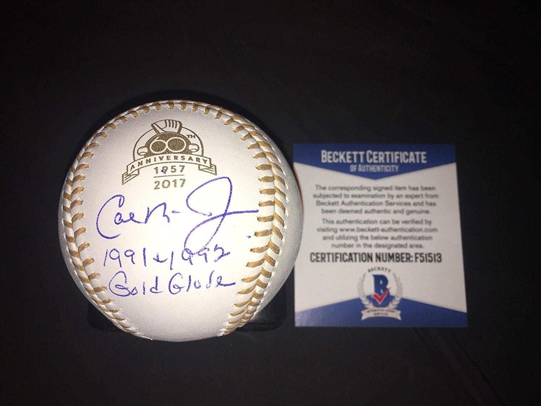 Cal Ripken Jr Signed Official Gold Glove Anniversary Baseball Baltimore O's BAS - Beckett Authentication