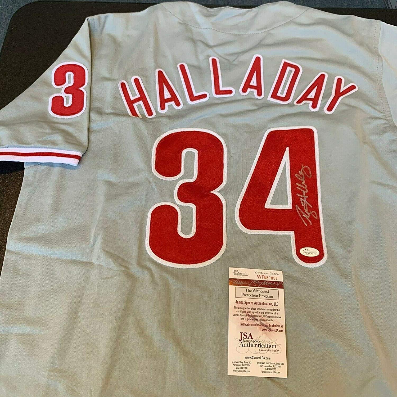 Roy Halladay Signed Jersey - COA - JSA Certified - Autographed MLB Jerseys