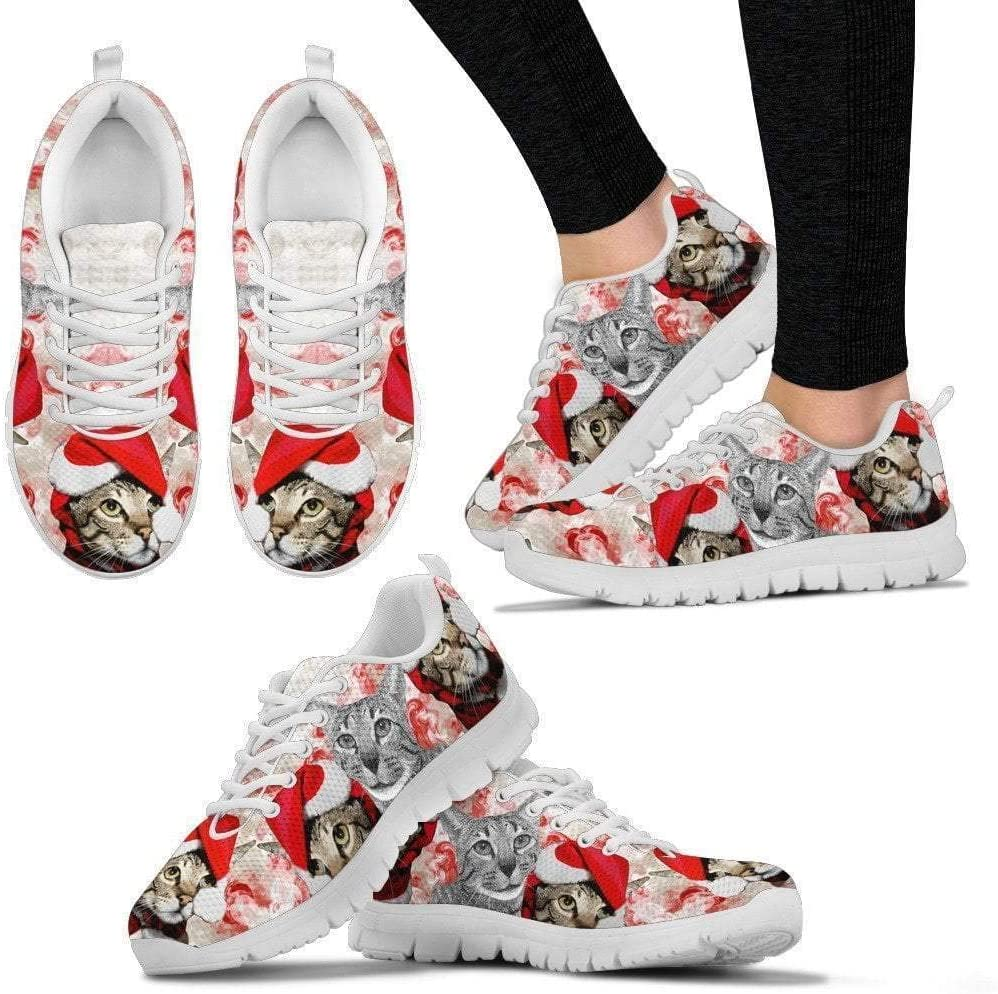 Paws With Attitude Savannah Cat Christmas Running Shoes for Women