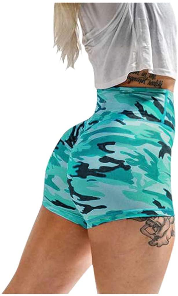 LINKIOM Women Basic Slip Bike Shorts Compression Workout Leggings Yoga Shorts Capris