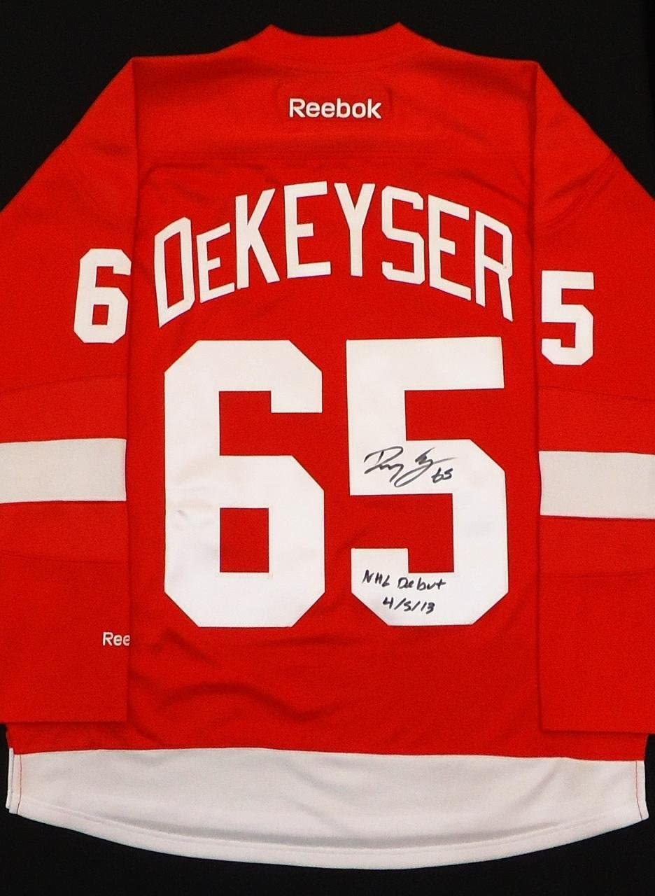 Danny DeKeyser Autographed Detroit Red Wings Home Jersey Inscribed