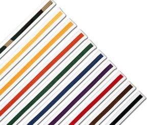 White Striped Rank Karate Martial Arts and Taekwondo Belts