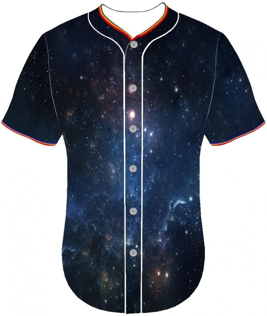 Entaiquji 3D Printer Personality Arc Bottom Youth Clothing jerseys Universe fbnr 3d printed long sleeve shirts Baseball Jersey