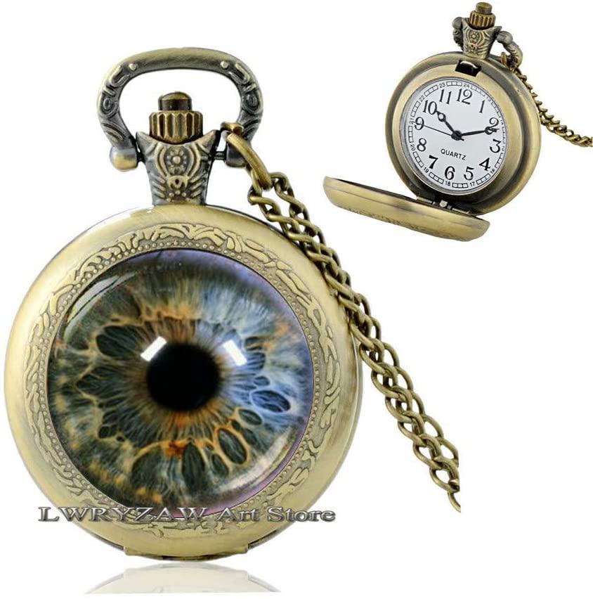 Eyeball Pocket Watch Necklace Eye Human Eyes Jewellery Ophthalmologist Gift Eye Jewelry Gift idea Oculist Gift Human Eye Eyeball Jewelry,M183