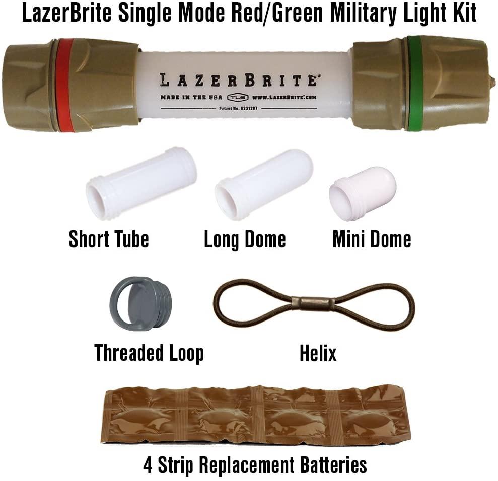 Lazerbrite Single Mode Red/Green Military Light Kit