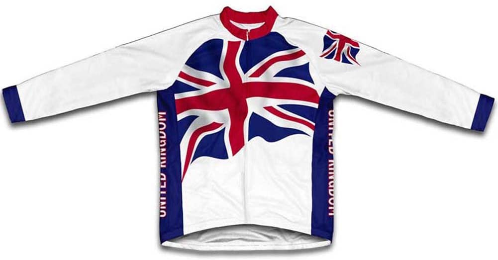 ScudoPro United Kingdom Flag Long Sleeve Cycling Jersey for Men