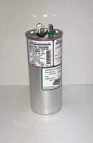 AMRAD USA Amrad Run Capacitor 70 + 10 uf MFD 370/440 Volt USA2220BA