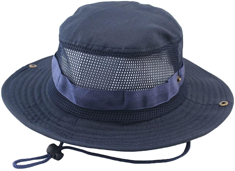 Bestgift Men's Outdoor Fishing Sun Hat