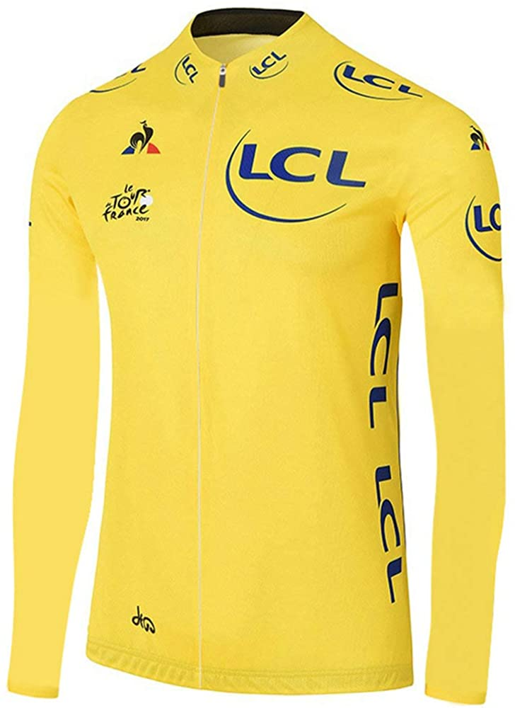 Cycling Jerseys Men's Long Sleeve Bicycle Jersey Winter Thermal Fleece Breathable Jersey V418