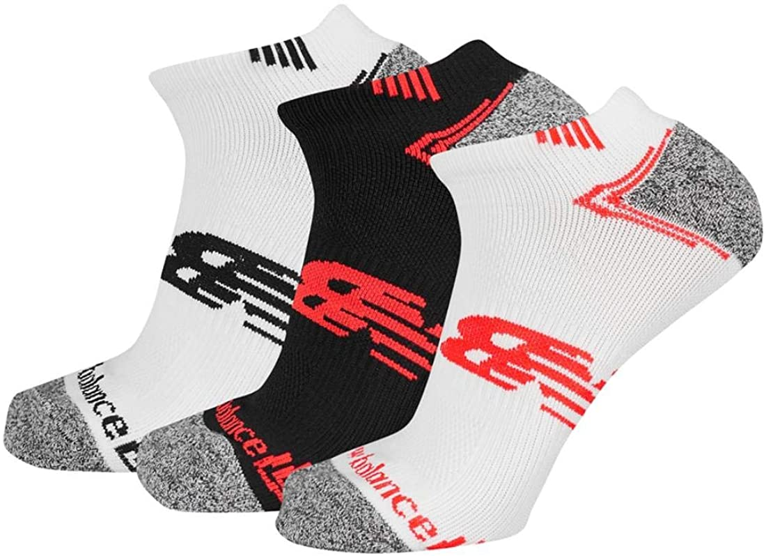 New Balance Unisex-Adult No Show Running Socks- 3 Pair Pack