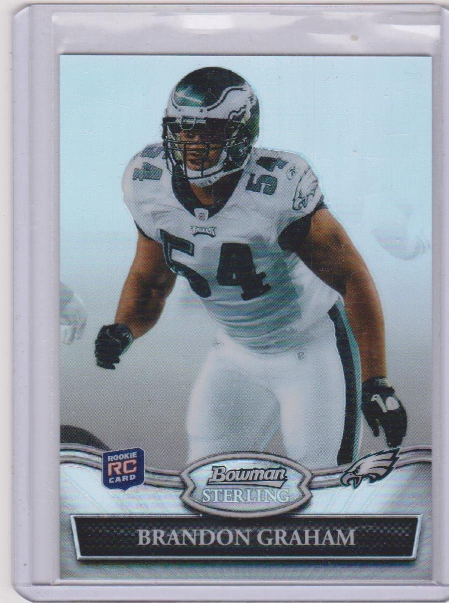 2010 Bowman Sterling Refractor Brandon Graham Eagles 224/299 Rookie Football Card #34