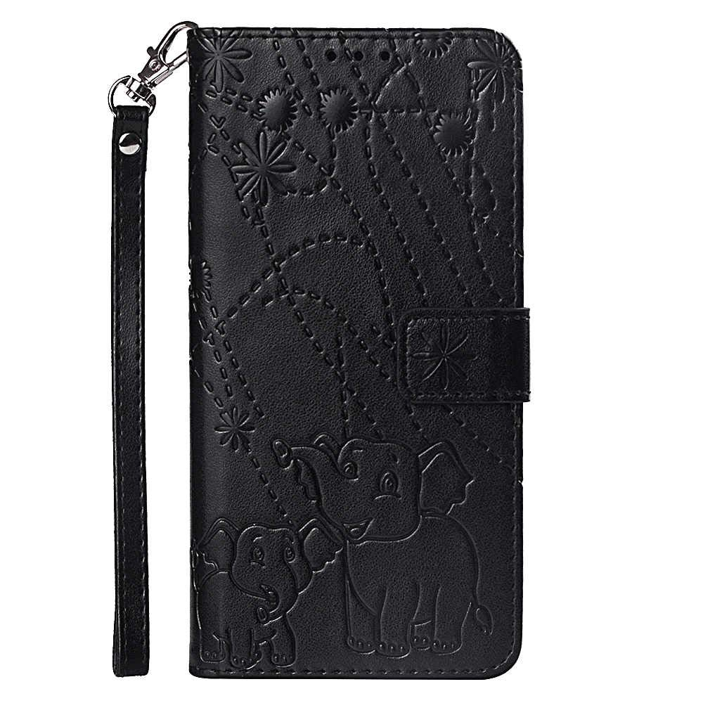 Stylish Cover Compatible with iPhone 11 Pro Max, Black Leather Flip Case Wallet for iPhone 11 Pro Max