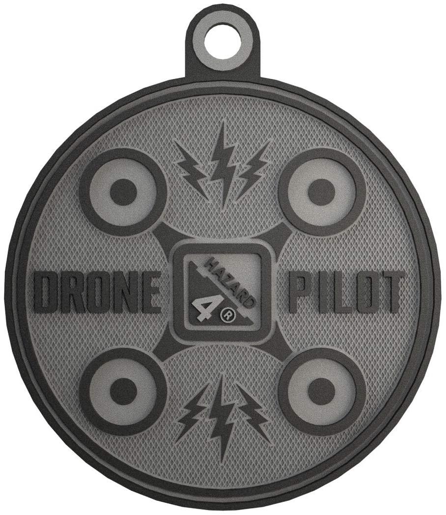 Hazard 4 Drone Pilot Rubber Patch - Black