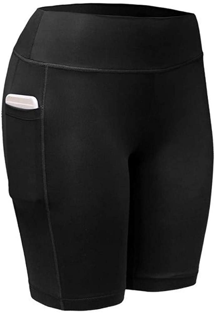 WOCACHI Yoga Shorts for Womens, 2020 Summer High Waist Side Pocket Running Athletic Yoga Pants Capri Workout Leggings