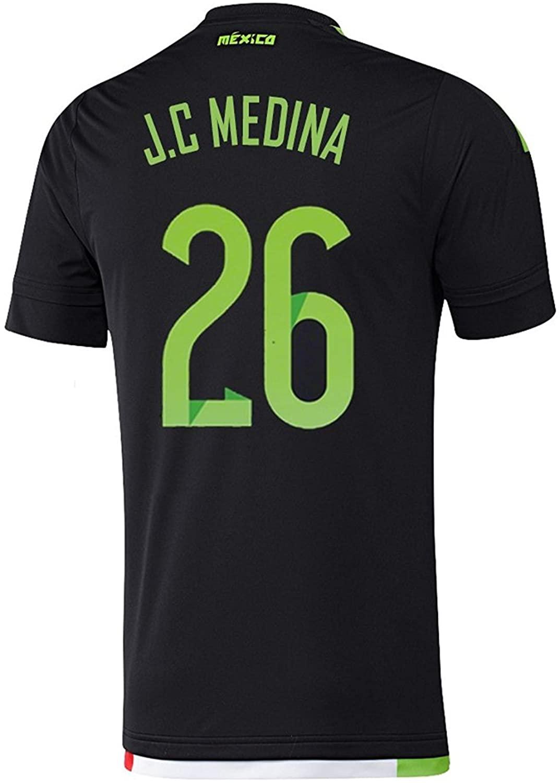 J.C Medina #26 Mexico Home Soccer Jersey 2015