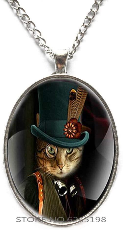 Cat Pendant, Cat Jewelry, Cat Necklace, Cat Pendant Jewelry,Cat Lovers Gift Cat Parents Gift,N022