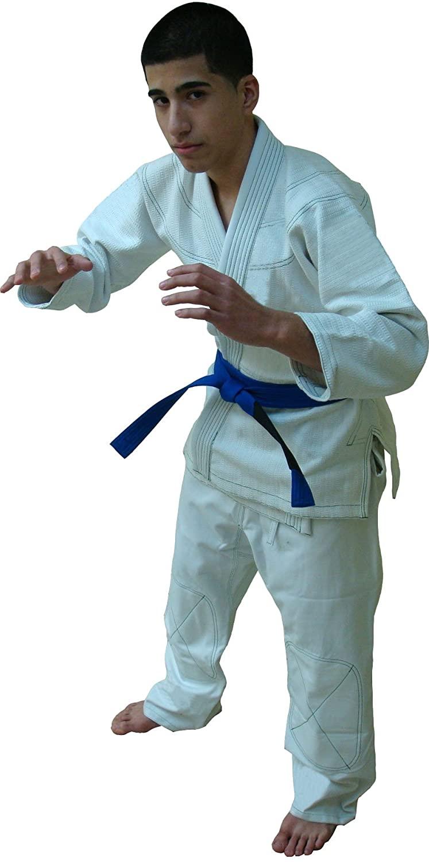 Woldorf USA Good Luck Jiu Jitsu Kimono White 000 Competition Uniform, Martial Arts, Fighting Uniform, Training Uniforms, Pre-Shrunk, Ultra Light Weight Uniforms Soft Fabric