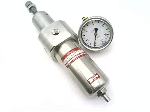 ASCO 34208016 Stainless Steel, W/Pressure Gauge, Filter, Pneumatic Regulator
