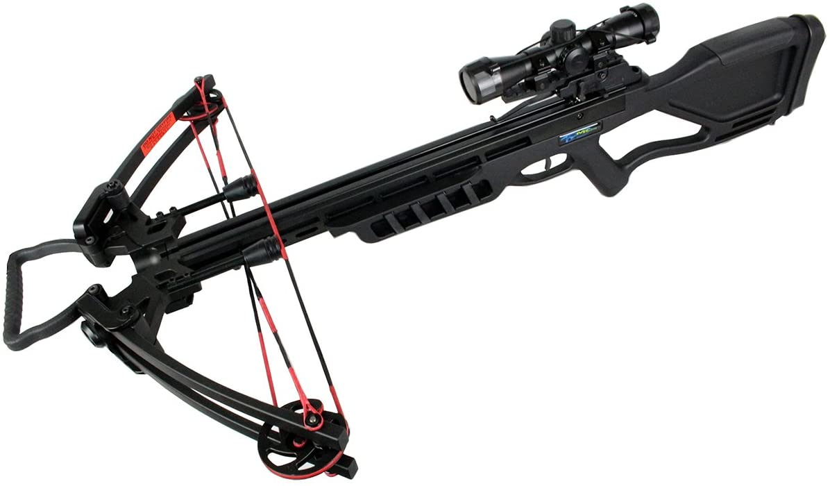 Last Punch 175 LBS Hunting Crossbow Package with Scope Arrows Rope Cocking 360 FPS