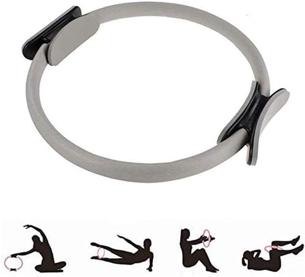 Pilates Exercise Ring - Pilate Exercise Rings for Thighs Magic Circle, Fitness Circles,Yoga Ring Wheel, Double Handle, Weight Loss Body Toning Equipment Resistance Training Workout to Burn Fat