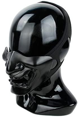 TMC Samurai Mask (Full Black) Protective Half Face Mask for Tactical Airsoft Paintball Gag Fun Party
