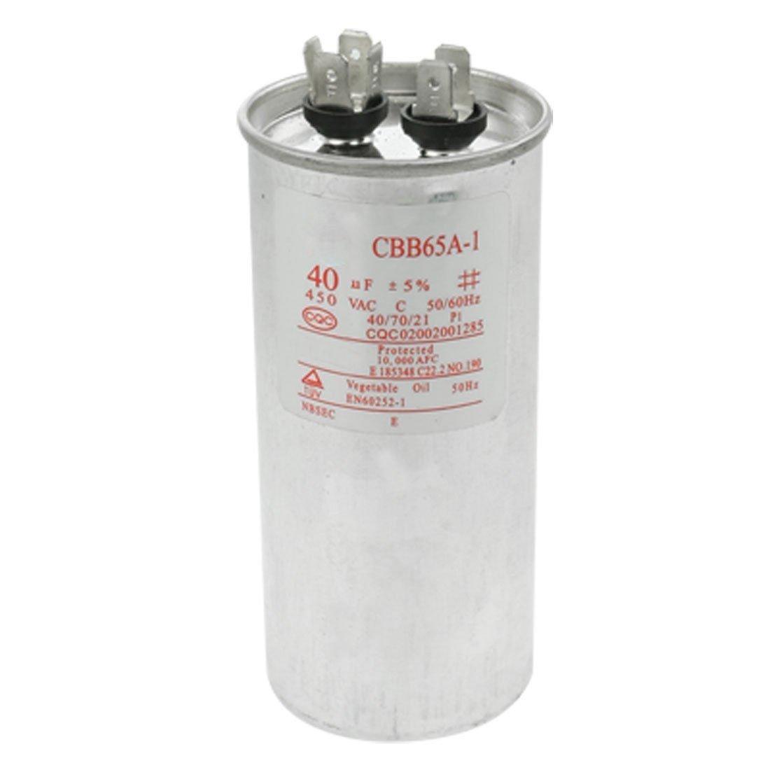 CBB65 Metallized Polypropylene Film Non Polar Motor Capacitor 40uF AC450V CBB65A