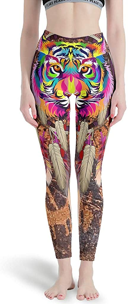 Native America Tiger Colorful Women's Summer Capri Leggings Various Designs Yoga Pants Cotton Capris Tights for School