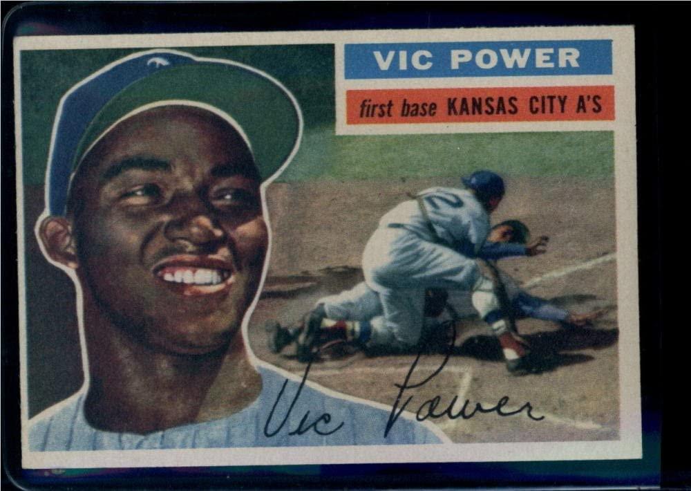 1956 Topps #67 Vic Power Kansas City Athletics UER (White Back) MLB Baseball Card EX Excellent
