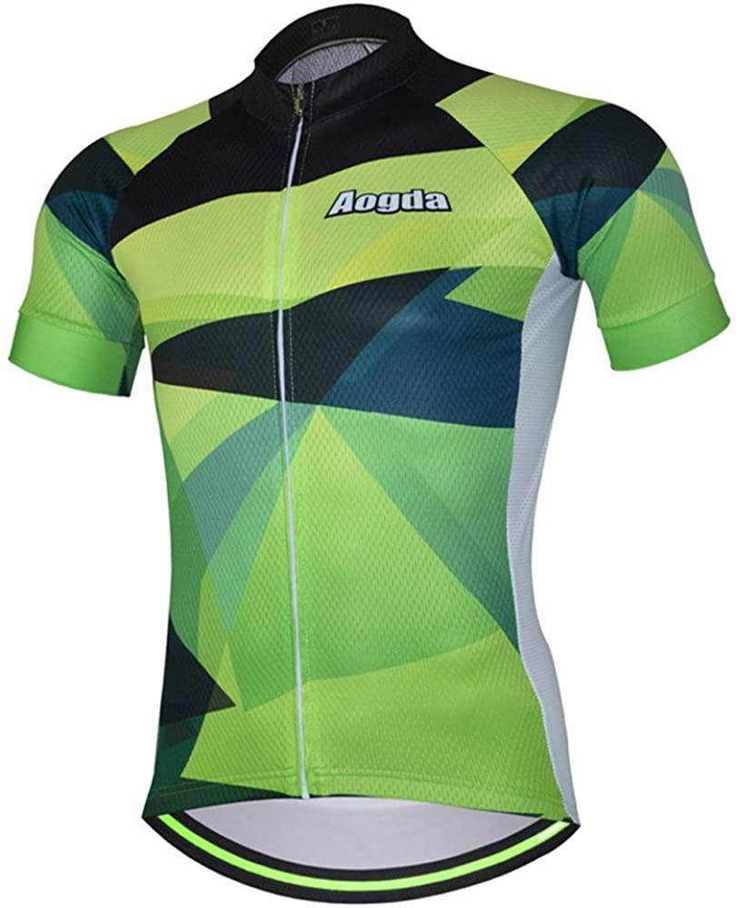 Aogda Cycling Jerseys Men Bike Biking Shirts Bicycle Shorts Clothing Summer