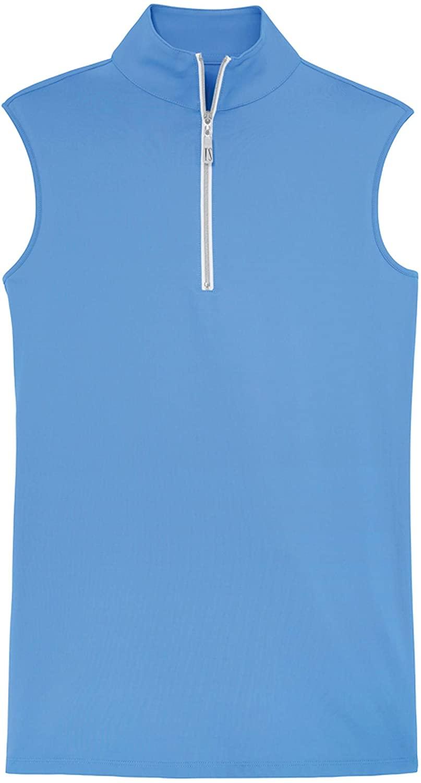 THE TAILORED SPORTSMAN Ladies' Sleeveless Sun Shirt, X-Small, Azure