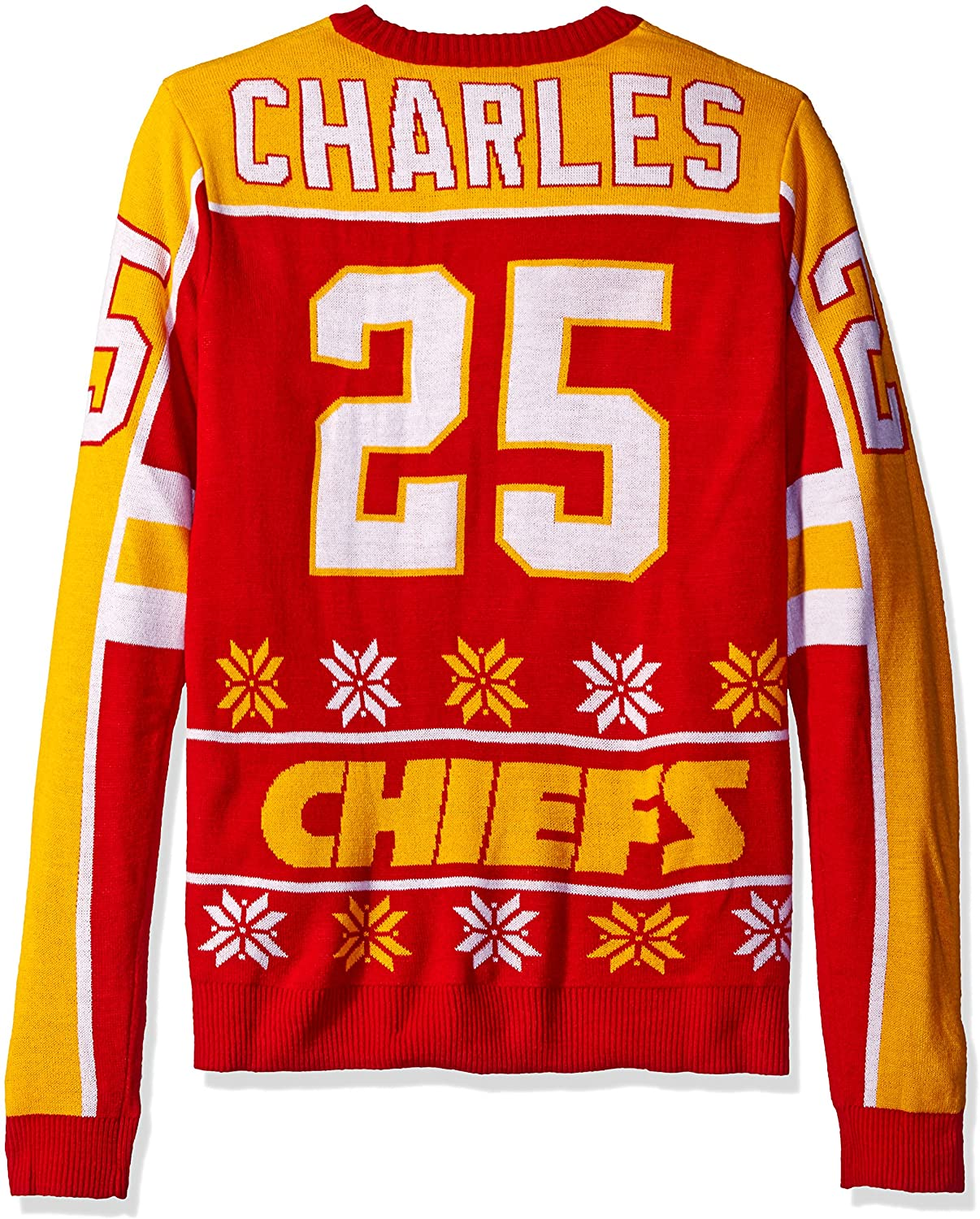 NFL Kansas City Chiefs Player Portrait Ugly Sweater, Jamaal Charles, Large
