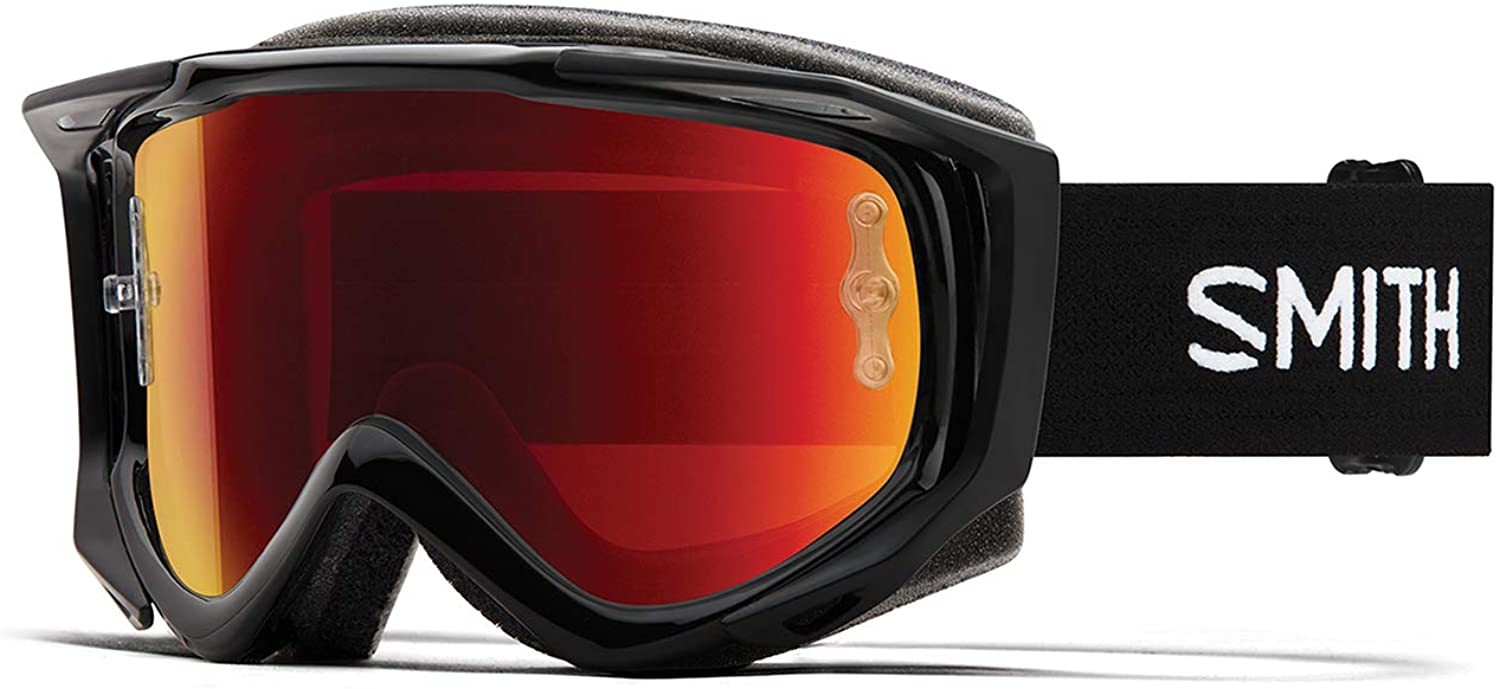 Smith Fuel V.2 Goggle Black/Red Mirror, One Size