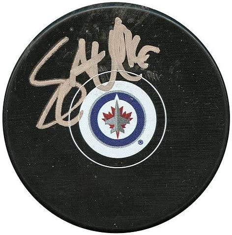 Authentic Autographed Shawn Matthias Winnipeg Jets Hockey Puck ~ JSA # V33767