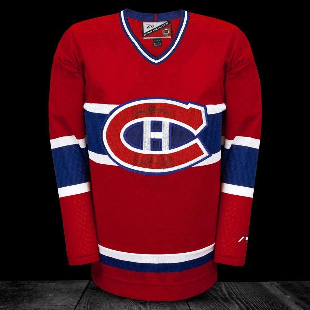 Jean Beliveau & Henri Richard Montreal Canadiens Pro Player Autographed Jersey - Autographed NHL Jerseys