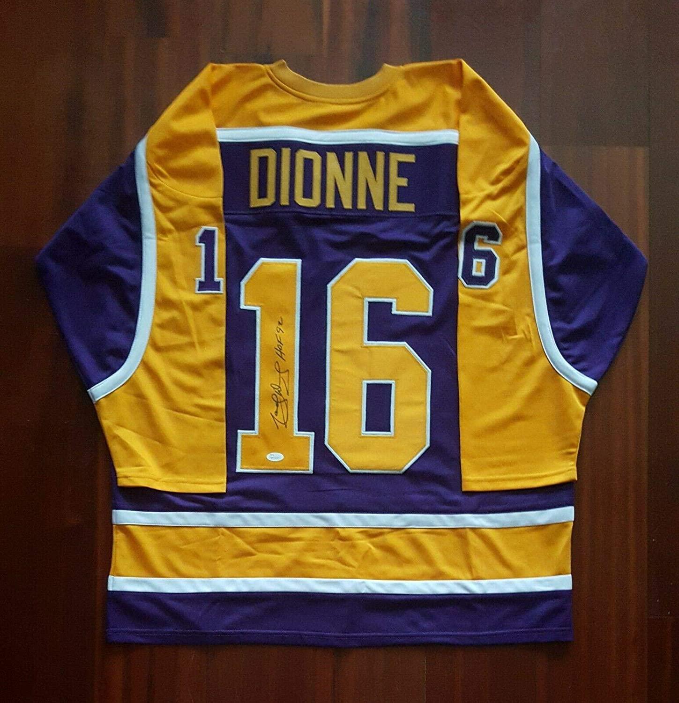 Signed Marcel Dionne Jersey - L.A. - JSA Certified - Autographed NHL Jerseys