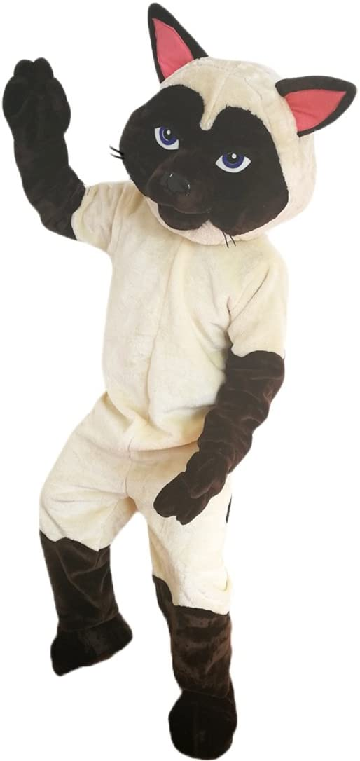 Siamese Cat Mascot Costume Cartoon Character Adult Sz Real Picture