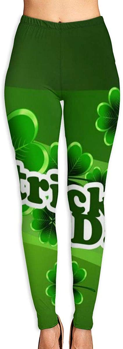 AUISS Womens Yoga Pants Leggings St. Patrick's Day Running Workout Capris Long Trousers Training Gym