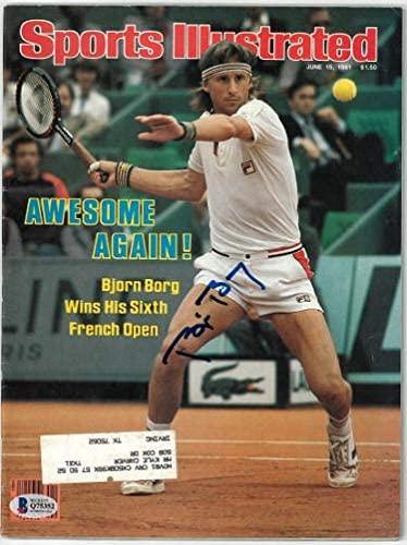 Bjorn Borg signed Sports Illustrated Full Magazine 6/15/1981- Beckett/BAS #Q75352 (French Open) - Beckett Authentication