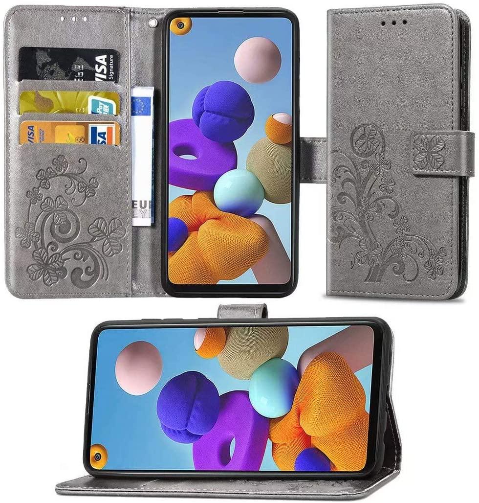 Luckyandery Wallet Case Samsung Galaxy A21S,Samsung Galaxy A21S flip case, PU Leather Stand Card Slots Money Pocket Samsung Galaxy A21S Wallet Case Cover